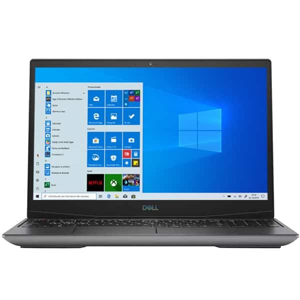 "Laptop Gaming DELL Inspiron G5 5505, AMD Ryzen 7 4800H pana la 4.2GHz, 15.6"" Full HD, 16GB, SSD 512GB, AMD Radeon RX 5600M 6GB, Windows 10 Home, negru"