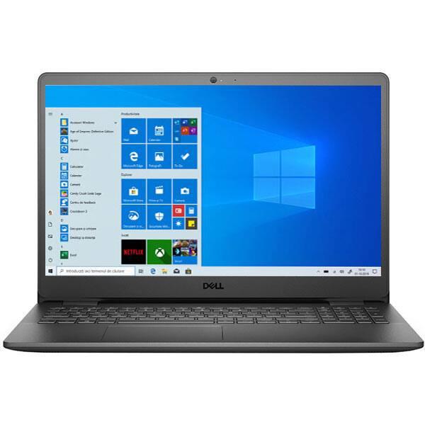 "Laptop DELL Inspiron 3505, AMD Ryzen 5 3450U pana la 3.5GHz, 15.6"" Full HD Touch, 12GB, 1TB + SSD 256GB, AMD Radeon Vega 8 Graphics, Windows 10 Home S, negru"