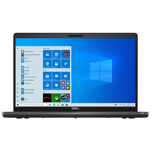 """Laptop DELL Latitude 5500, Intel Core i5-8365U pana la 4.1GHz, 15.6"""" Full HD, 16GB, SSD 256GB, Intel UHD 620 Graphics, Windows 10 Pro, negru"""