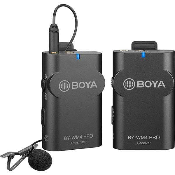 Lavaliera wireless BOYA BY-WM4 Pro k1, TRS & TRRS Jack 3.5mm, gri