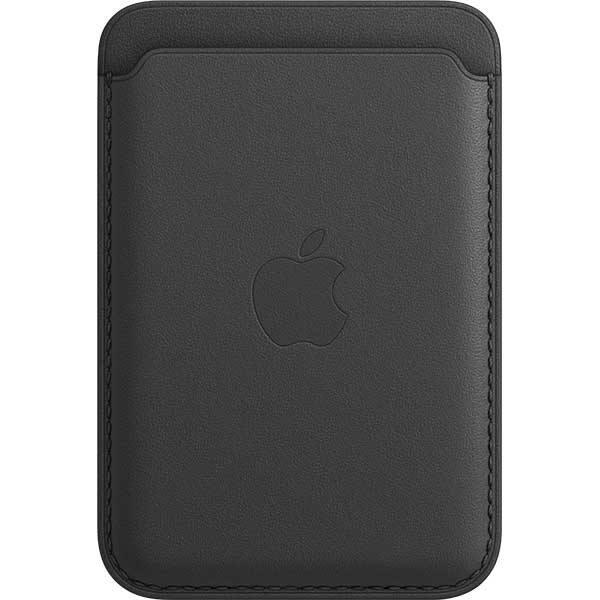 Portofel Apple din piele cu MagSafe pentru Apple iPhone 12/12 mini/12 Pro/12 Pro Max, MHLR3ZM/A, Black