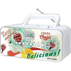Radio CD portabil MUSE M-28 CC, USB, FM, multicolor
