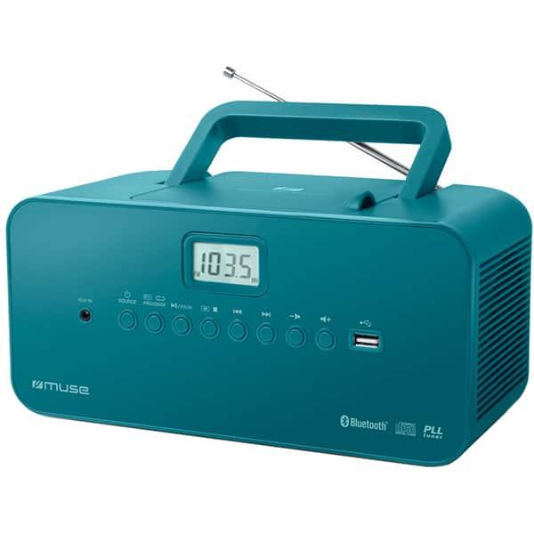 Radio CD portabil MUSE M-30BTB, FM, Bluetooth, USB, albastru