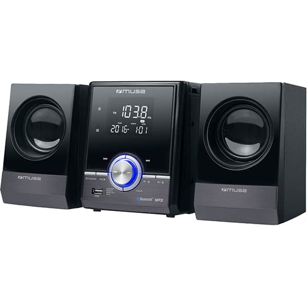 Microsistem MUSE M-38 BT, bluetooth, CD, radio, negru