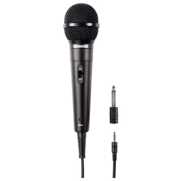 Microfon dinamic karaoke THOMSON M150, Jack 3.5 mm, negru