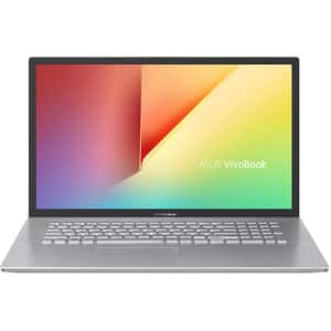 "Laptop ASUS VivoBook 17 M712DK-AU034, AMD Ryzen 5 3500U pana 3.7GHz, 17.3"" Full HD, 12GB, SSD 512GB, AMD Radeon R540X 2GB, Free Dos, argintiu"