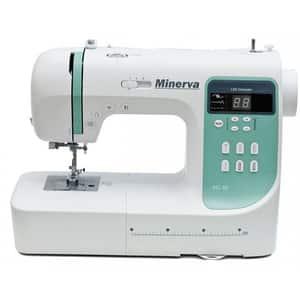 Masina de cusut MINERVA MC210PRO, 800 imp/min, 197 programe, alb-verde