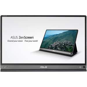 "Monitor LED IPS ASUS ZenScreen GO MB16AP, 15.6"", Full HD, 60Hz, Flicker free, gri inchis"