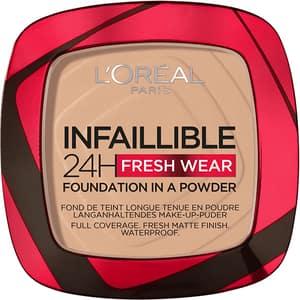Pudra compacta L'OREAL PARIS Infaillible 24h Fresh Wear, 130 True Beige, 9g