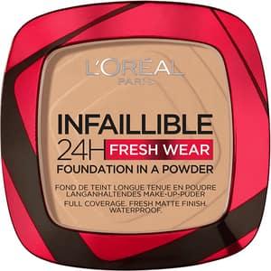 Pudra compacta L'OREAL PARIS Infaillible 24h Fresh Wear, 140 Golden, 9g