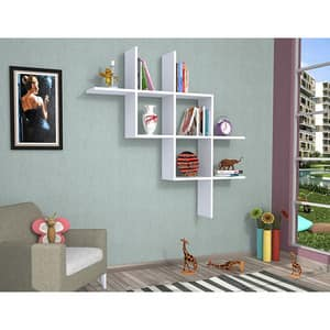 Raft perete Boite, 125 x 22 x 25 cm, alb