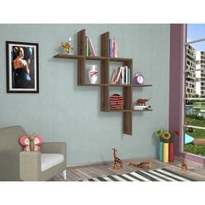 Raft perete Boite, 125 x 22 x 25 cm, nuc