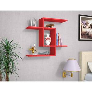 Raft perete Even, 75 x 22 x 67 cm, rosu
