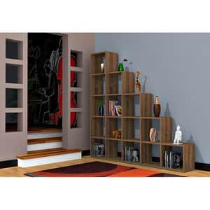 Biblioteca Perle, nuc, 160 x 22 x 160 cm