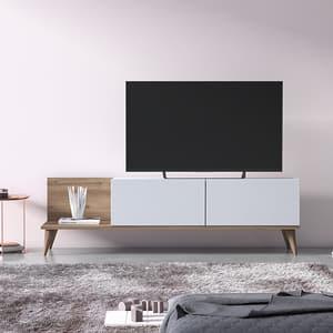 Comoda TV Soho, stejar, 152 x 35 x 43 cm