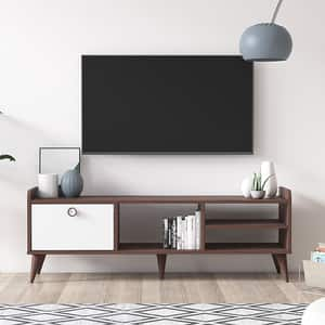 Comoda TV Vena, nuc, 140 x 35 x 49 cm