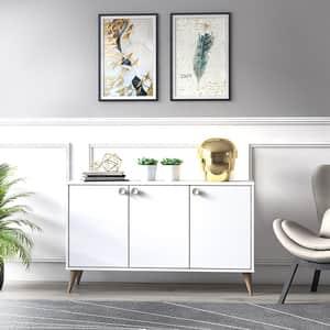 Bufet living Vega, alb, 125 x 35 x 74 cm