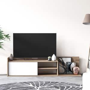 Comoda TV Zein, stejar, 160 x 37 x 40 cm