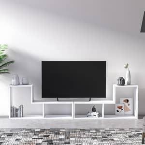 Comoda TV Legon, alb, 190 x 25 x 50 cm