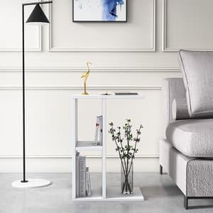 Masuta laterala Slot, alb, 59 x 40 x 30 cm