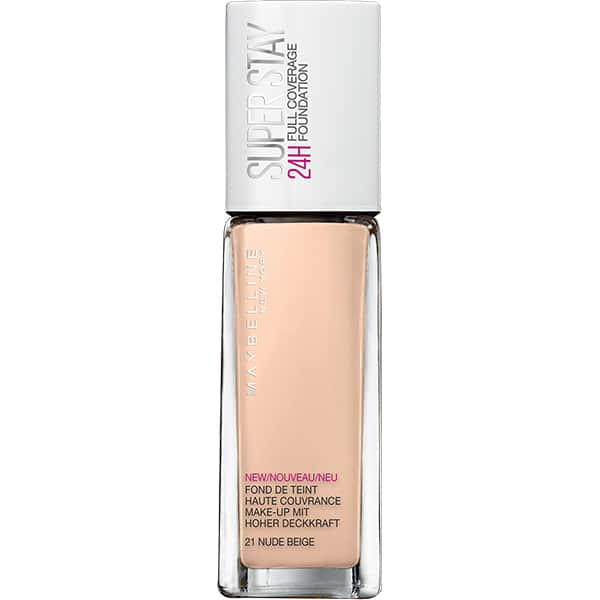 Fond de ten MAYBELLINE NEW YORK Superstay 24H, 21 Nude, 30ml