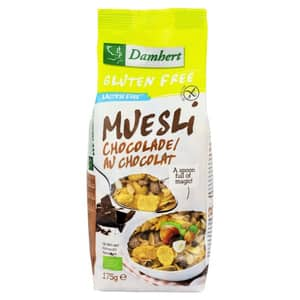 Musli cu ciocolata fara gluten DAMHERT, 175g, 3 bucati