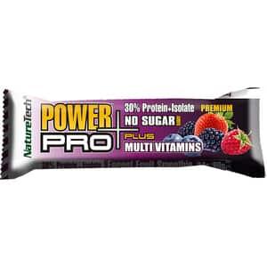 Baton energizant NATURE TECH Power Pro Plus fructe de padure, 80g, 6 bucati