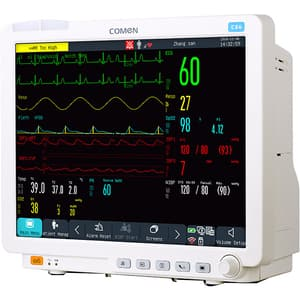 "Monitor functii vitale configuratie standard COMEN C80, 12.1"", Touch screen, Acumulator Li-Ion, crem"