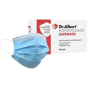 Set masti de protectie DR ALBERT FM-2304, 3 straturi, 50 bucati, albastru