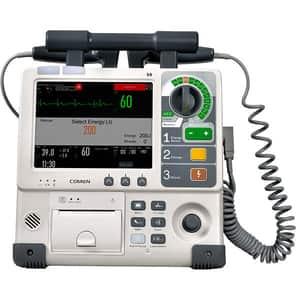 Defibrilator configutatie standard COMEN S8, Acumulator Li-Ion, crem + Cablu SPO2, NIBP, Dual Temp, IBP, ETCO2