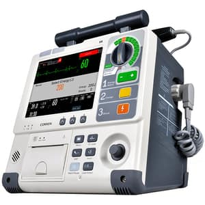 "Defibrilator COMEN S8, 8.4"", Touch screen, Acumulator Li-Ion, crem + Cablu SPO2, NIBP, Temp, IBP, ETCO2"