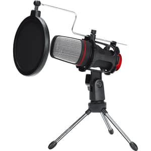 Microfon de birou MARVO MIC-02, omnidirectional, jack 3.5, negru