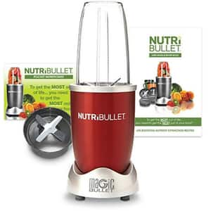 Blender DELIMANO Nutribullet Magic Bullet, 0.7l, 600W, 1 treapta viteza, argintiu-rosu