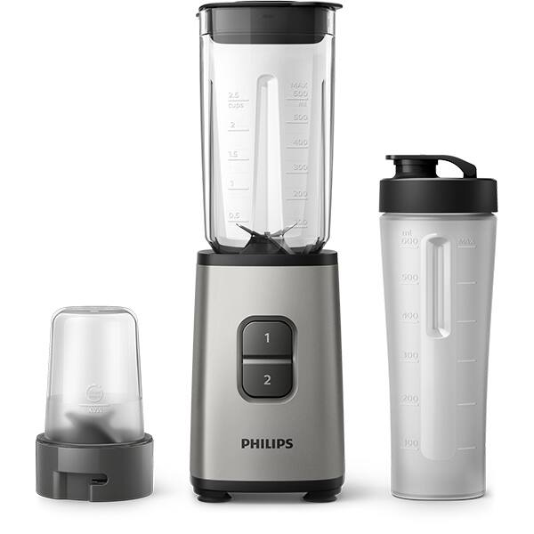 Blender PHILIPS HR2604/80, 1l, 350W, gri