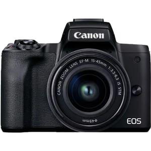 Aparat foto mirrorless CANON EOS M50 II Vlogging,24.1 MP, 4K, Wi-Fi, negru