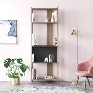 Biblioteca Ruby L, stejar, 59 x 27 x 165 cm