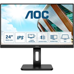 "Monitor LED IPS AOC 24P2Q, 23.8"" Full HD, 75Hz, AdaptiveSync, Flicker Free, negru"