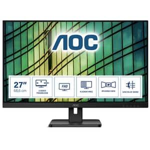 "Monitor LED IPS AOC 27E2QAE, 27"" Full HD, 75Hz, AdaptiveSync, Flicker Free, negru"