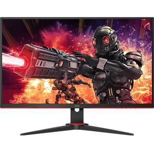 "Monitor Gaming LED IPS AOC 27G2AE/BK, 27"" Full HD, 144Hz, FreeSync Premium, Flicker Free, negru-rosu"