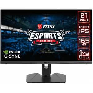 "Monitor Gaming LED IPS MSI Optix MAG274QRF, 27"", WQHD, 165Hz, NVIDIA G-Sync, HDR Ready, negru"