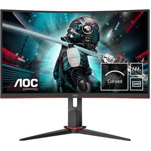 "Monitor Gaming curbat LED VA AOC CQ27G2U/BK, 27"" Quad HD, 144Hz, FreeSync Premium, Flicker Free, negru"