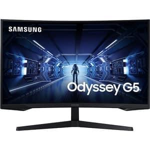 """Monitor Gaming curbat LED VA SAMSUNG LC27G55TQWRXEN, 27"""", WQHD, 144Hz, FreeSync Premium, negru"""