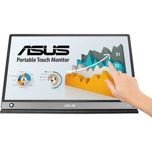 "Monitor portabil LCD IPS ASUS ZenScreen Touch MB16AMT, 15.6"", 60Hz, Full HD, Touch screen, Flicker free, gri inchis"