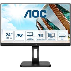 "Monitor LED IPS AOC Q24P2Q, 23.8"" Quad HD, 75Hz, Flicker Free, negru"