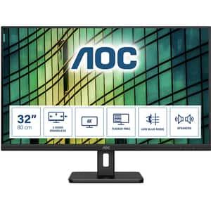 "Monitor LED VA AOC U32E2N, 31.5"" Ultra HD, 60Hz, AdaptiveSync, Flicker Free, negru"