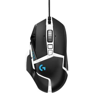 Mouse gaming LOGITECH G502 SE HERO High Performance, 16000 dpi, negru-alb