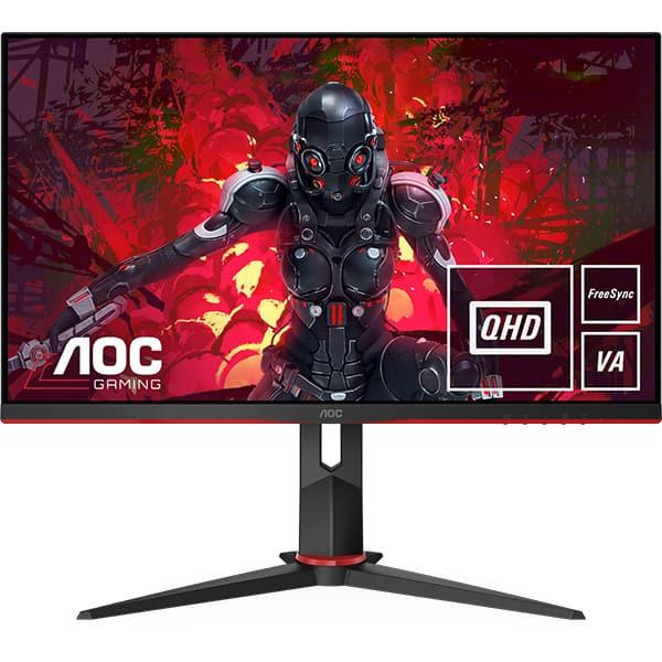 "Monitor Gaming LED VA AOC Q27G2U/BK, 27"" Quad HD, 144Hz, FreeSync Premium, Flicker Free, negru"