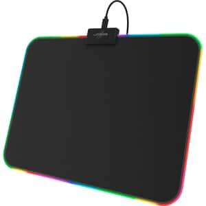 Mouse pad gaming HAMA uRage Rag Illuminated, negru, marimea M
