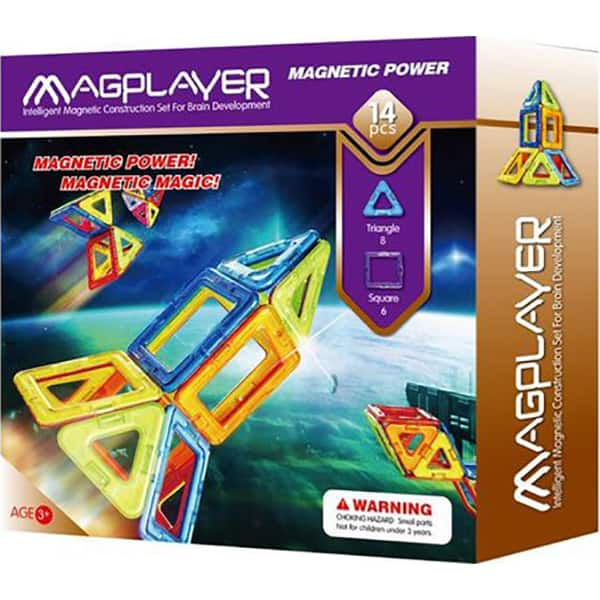 Joc constructie magnetic MAGPLAYER MPB-14, 3 ani +, 14 piese