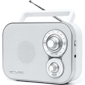 Radio portabil MUSE M-051 RW, FM, alb